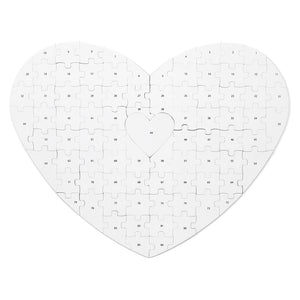 Wedding Heart Guest Book Puzzle