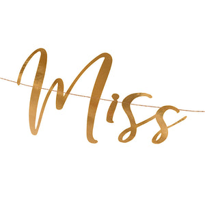 details image for rose gold miss to mrs garland