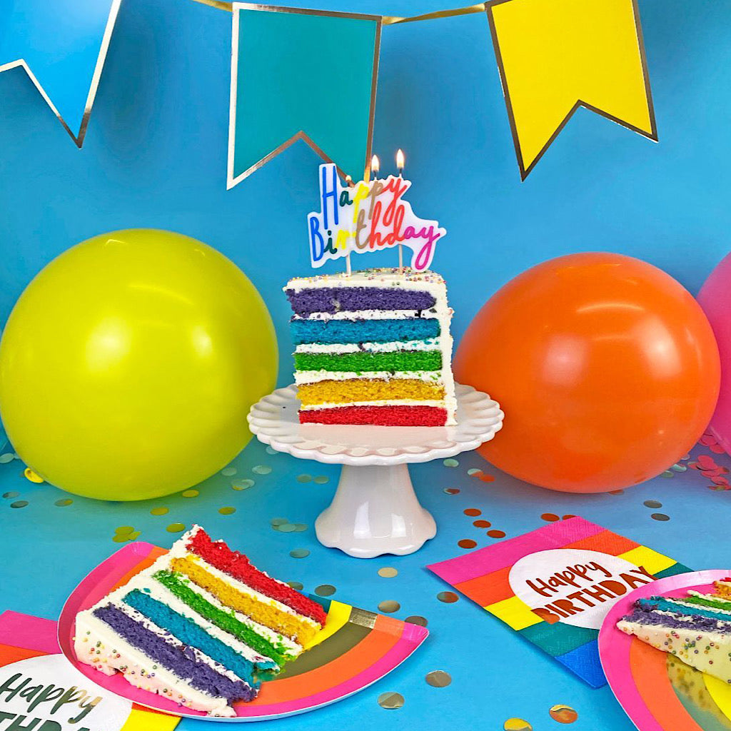Rainbow Birthday Candle