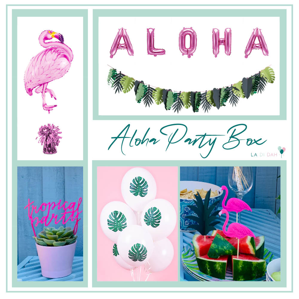 Aloha Party Decorations Box