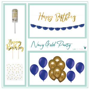 Navy Blue & Gold Decorations Box