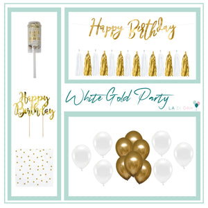 White & Gold Decorations Box
