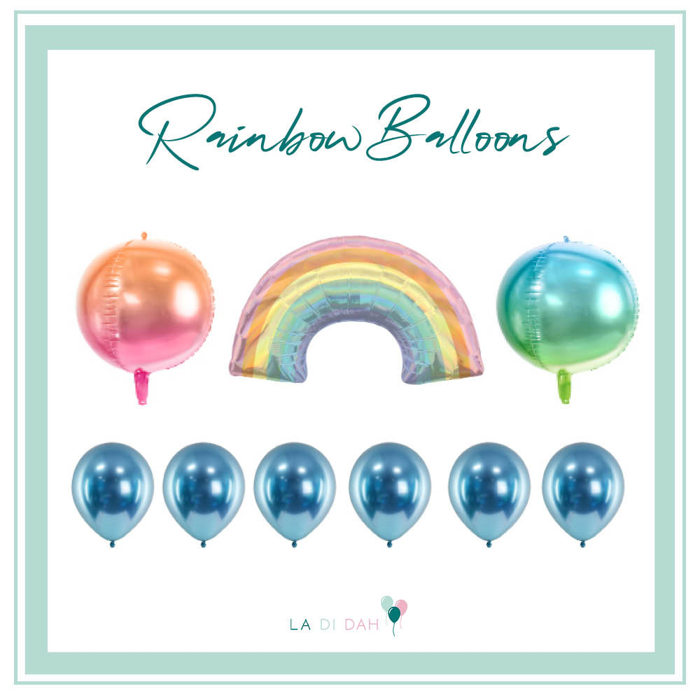 Rainbow Balloon Bundle