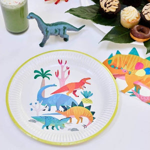 Eco friendly recyclable Dinosaur party plates