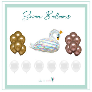 Princess Swan Balloons Bundle