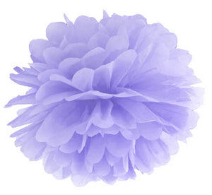 purple tissue pom pom decoration for mermaid themed birthday party for girls and boys party or birthday parties from la di dah