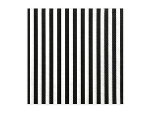 black and white striped square paper napkins for Pirate themed birthday party for girls and boys party or birthday parties from la di dah