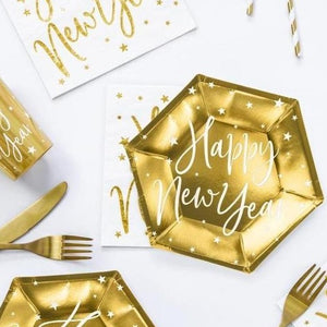 Gold New Year Plate & Cup Set