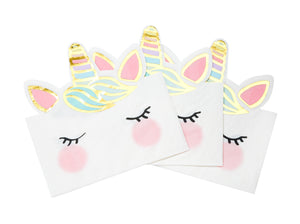 Unicorn paper party napkins.