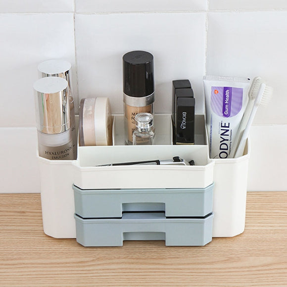 YiCleaner Plastic Makeup Organizer Drawer Storage Boxes