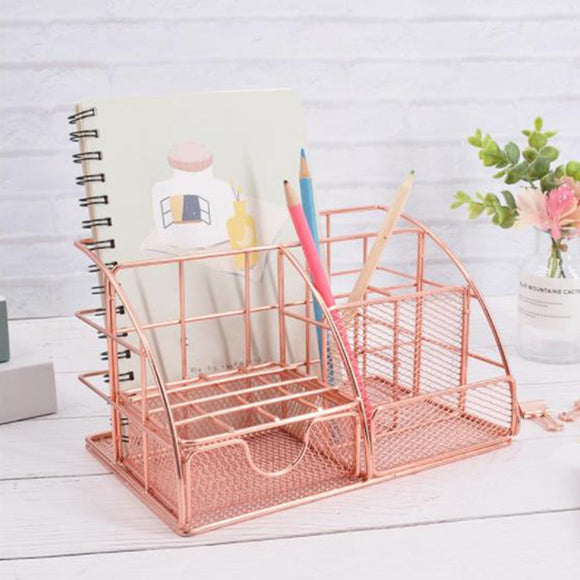 High Quality Desktop Storage Rack Multi-functional Document Letter Stationery Holder
