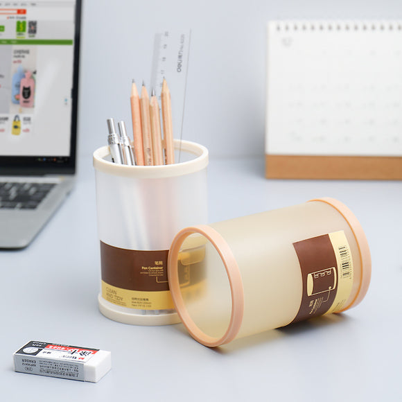 Creative Simple Desktop Pen Container South Korea-Style Plastic Transparent