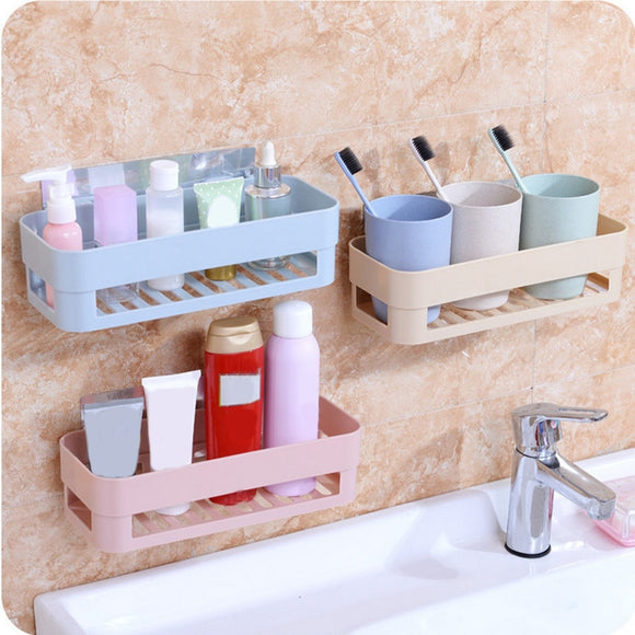 Wall Corner Storage Rack Organizer Suction Type Shower Shelf