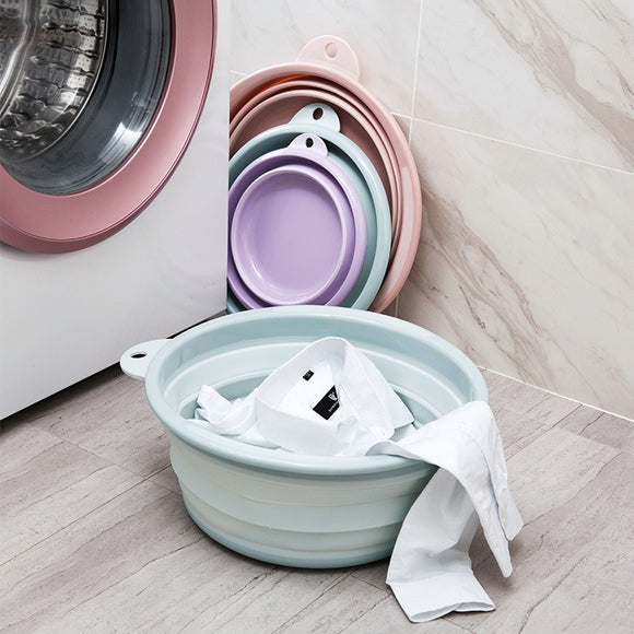 Travel Folding Wash Basin Bucket Container Portable Fruit Basin