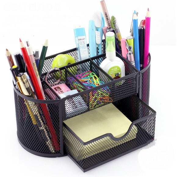 Creative Fashion Penholder Pen Insert Desktop Office Supplies Receiving Box