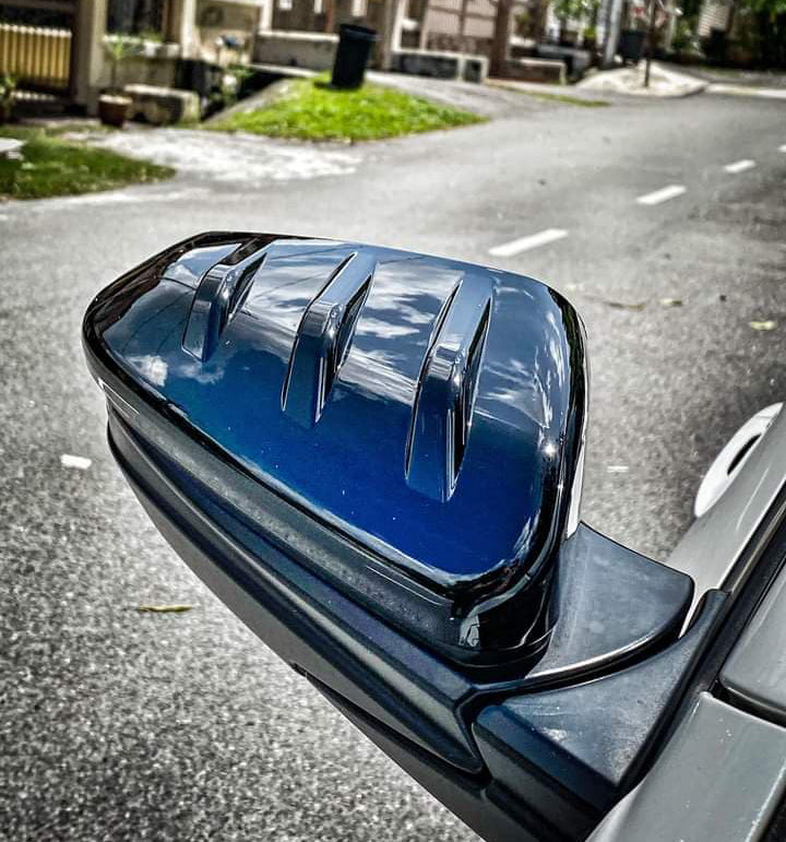 Mugen Style Side Mirror Cover Gloss Black 2016+ Honda Civic