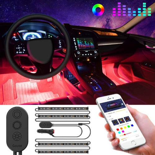 48 LED Strip Light Multi DIY Color Under Dash Car Lighting