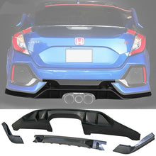 Load image into Gallery viewer, 2017+ Honda Civic Hatchback Type R Style Rear Bumper Lip Conversion Kit