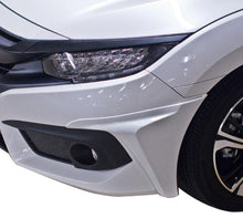 Load image into Gallery viewer, GT Style V2 Polyurethane Front Bumper Lip + Side Caps 2016+ Honda Civic