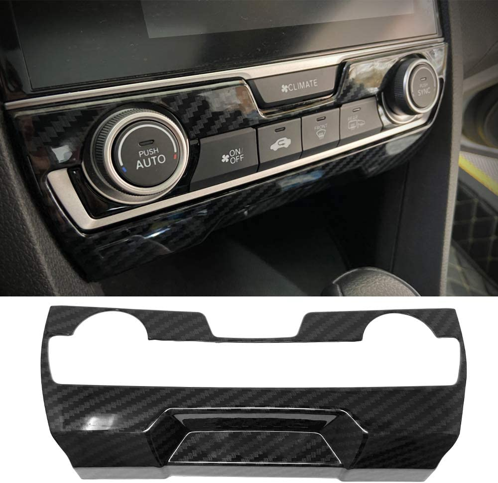Carbon Fiber Center Console Panel Trim Cover 2016+ Honda Civic
