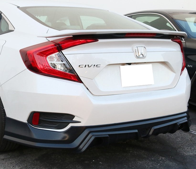MG Style Polyurethane Rear Diffuser 2016+ Civic