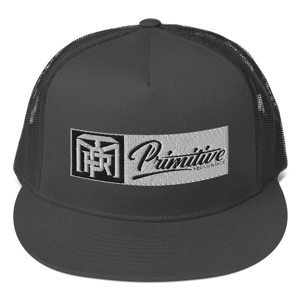Box Monogram Primitive Snapback Hat - Black