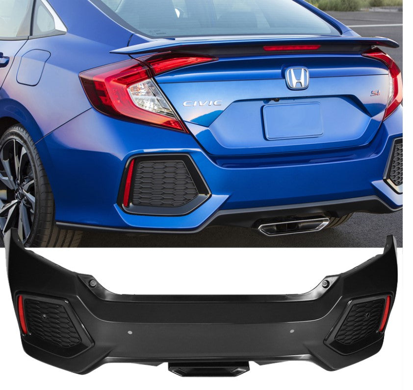 Honda Civic Si Sedan Style Rear Bumper 2016+ Civic Sedan