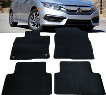 Load image into Gallery viewer, 2016-2020 Honda Civic 4DR Black Nylon Front & Rear Floor Mats Carpet 4Pcs