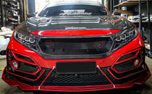 Load image into Gallery viewer, Carbon Fiber JS Style Front Bumper Grill 2017+ Honda Civic
