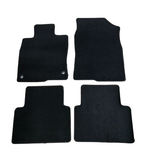 2016-2020 Honda Civic 4DR Black Nylon Front & Rear Floor Mats Carpet 4Pcs
