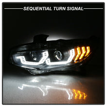Load image into Gallery viewer, Black LED Tube Sequential Projector Headlights 2016+ Honda Civic
