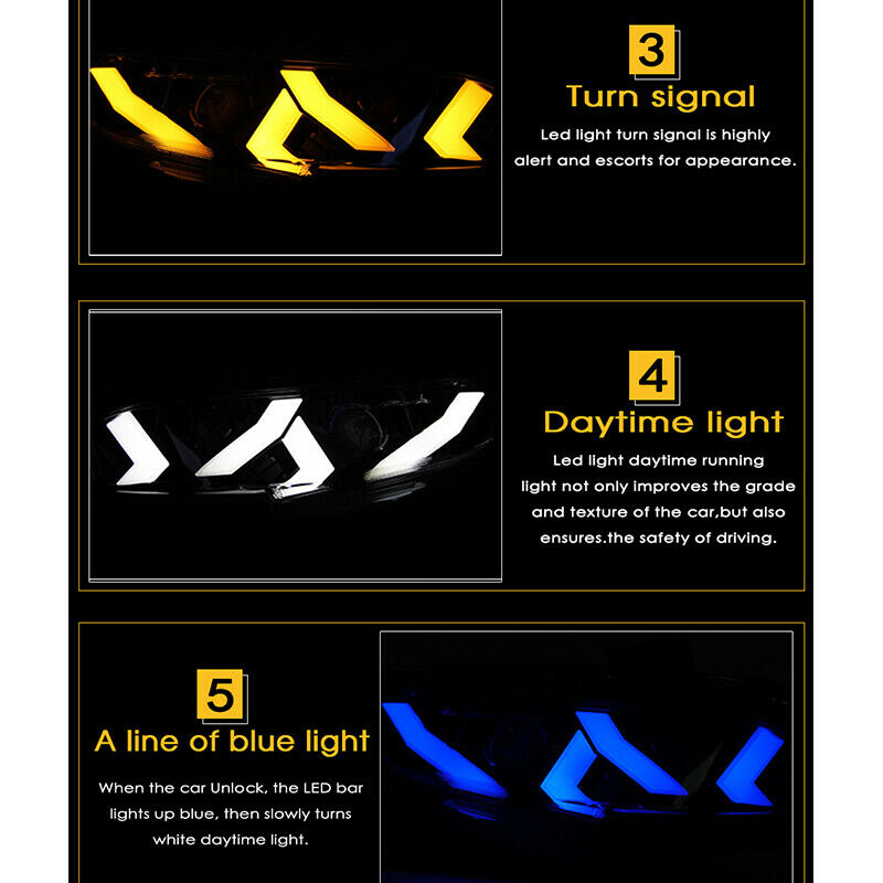Lambo Style LED Animation Headlight 2016+ Honda Civic
