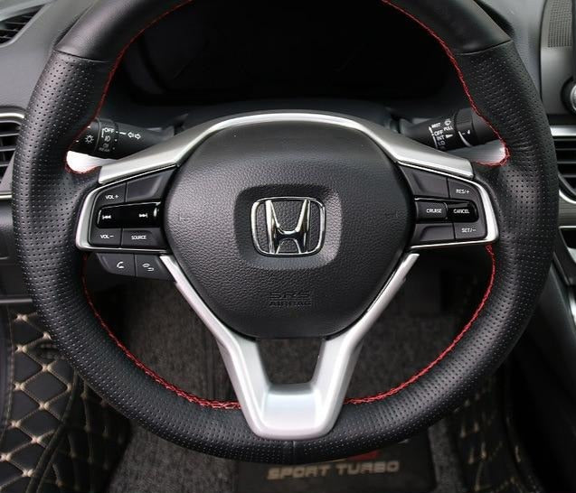 Carbon Fiber Steering Wheel Trim Cover 2018+ Honda Accord