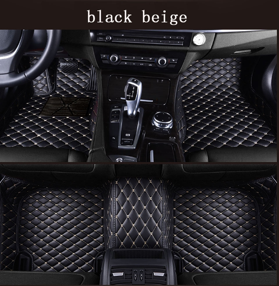 Premium Quality Custom Leather Diamond Car Floor Mats