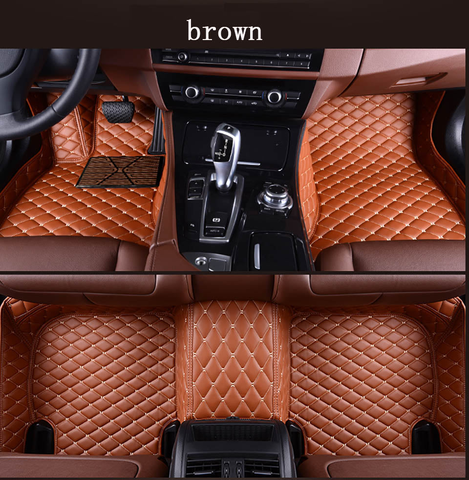 Custom Leather Diamond Car Floor Mats