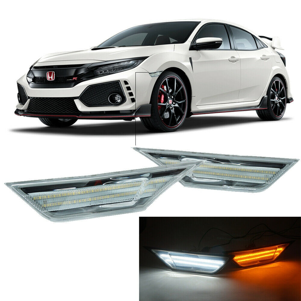 Side Markers LED Switchback Amber/White 2016+ Honda Civic