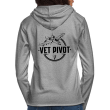 "Load image into Gallery viewer, Vet Pivot ""Civies"" Unisex Lightweight Terry Hoodie - heather gray"