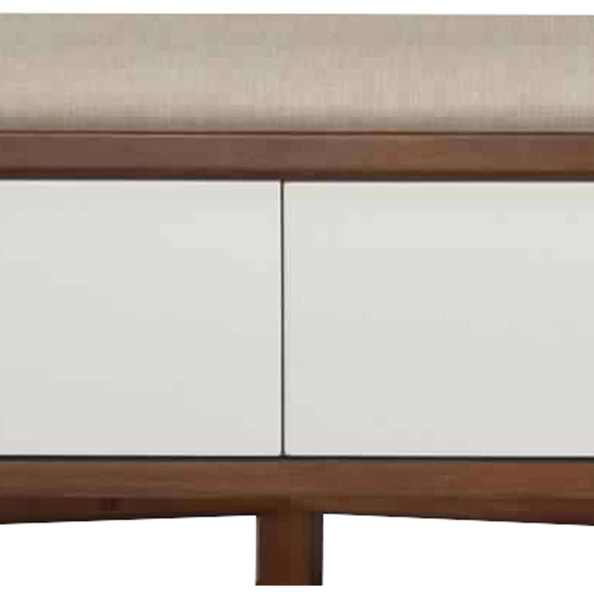 Accent And Storage Benches - Fabric Upholstered Wooden Bench With 2 Drawers, Brown And White