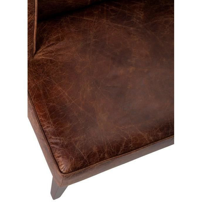 Accent Chairs - NK Sable Top Grain Leather Chair