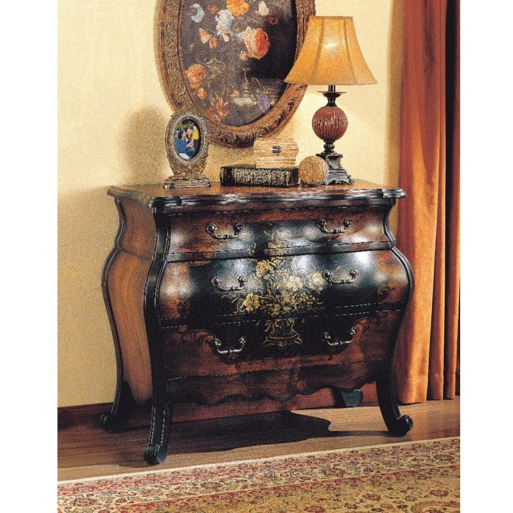 Accent Chests And Cabinets - Imperial Wooden Chest, Antique Black & Oak Brown