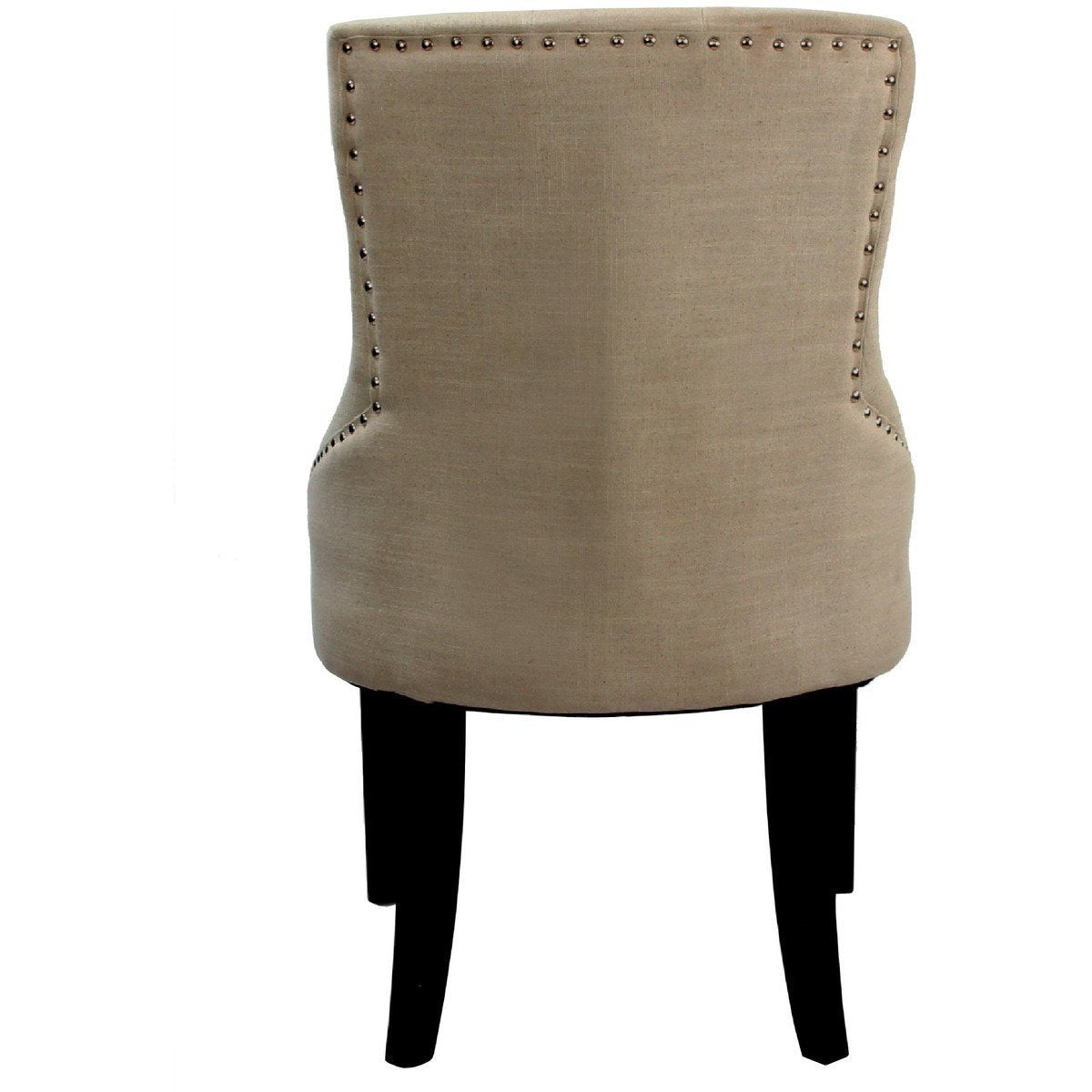 Armchairs And Accent Chairs - Drogo Side Chair (Set-2), Cream Fabric & Walnut