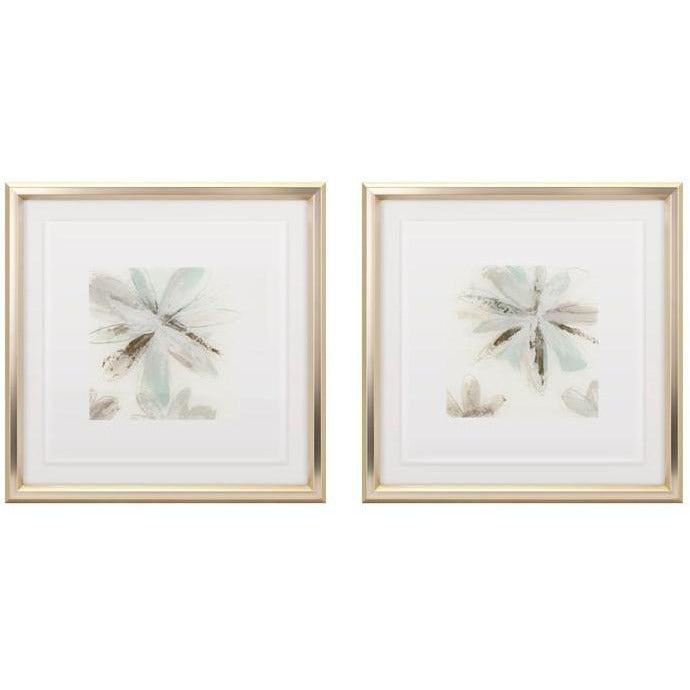 Artwork - TY Floral Floating Acrylic Framed Wall Decor - Ast 2