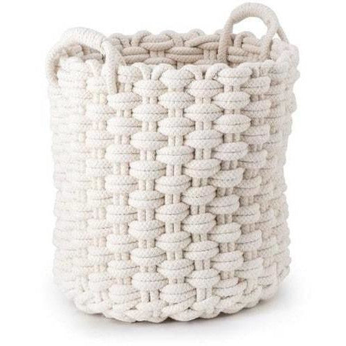 Baskets - Nantucket Woven Rope Baskets - Set Of 3