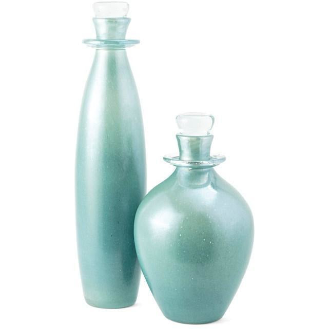 Bottles - NK Barlow Glass Decorative Bottles With Stoppers - Set Of 2