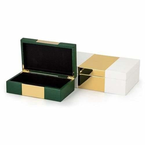Boxes - Pongo Faux Leather Boxes - Set Of 2