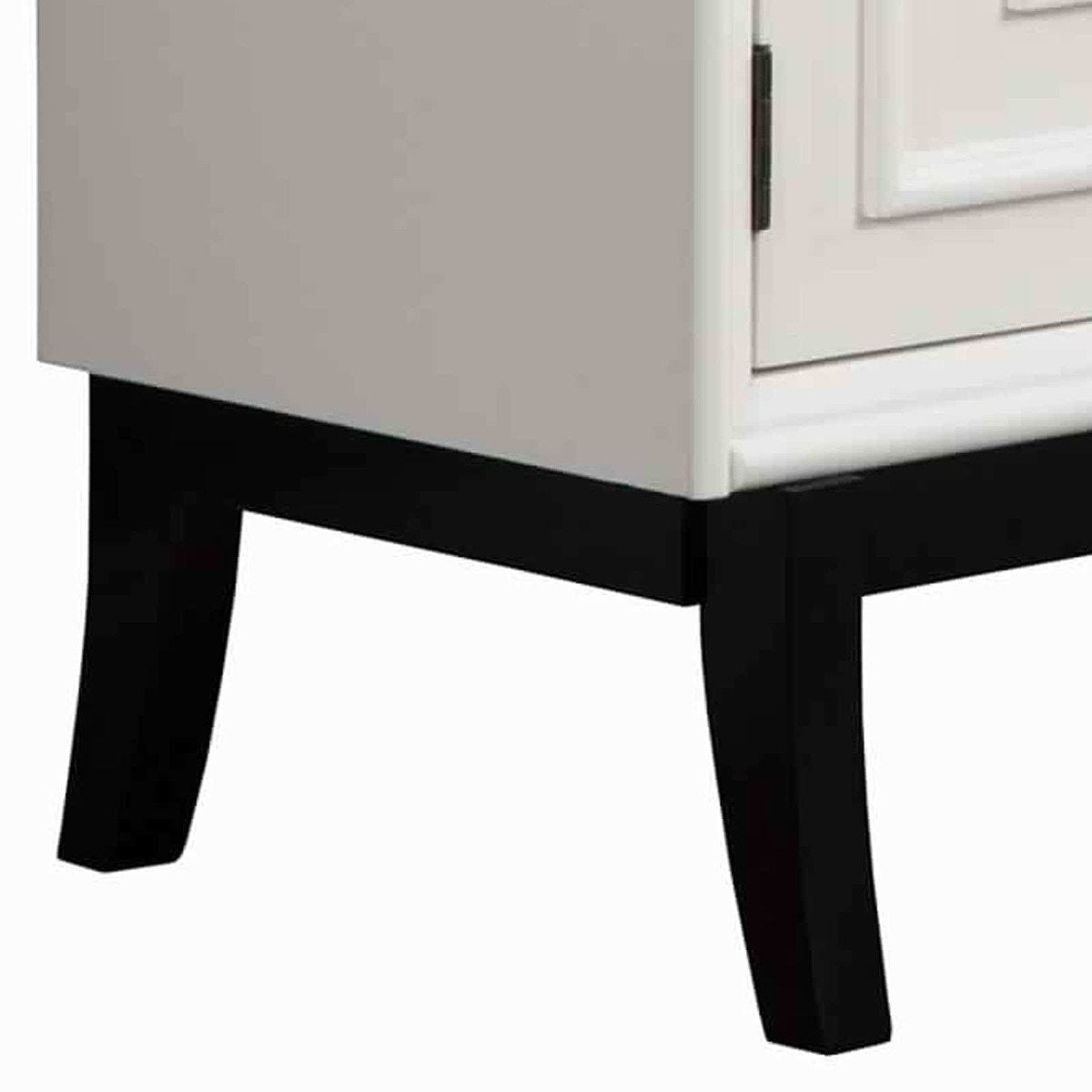 Cabinet & Storage Chests - 2 Door Accent Chest With Molded Rectangular Accents, White And Black