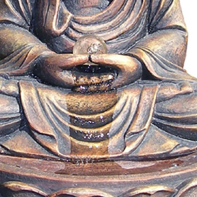 Decorative Objects - Frame Buddha Fountain In Lotus Position, Antique