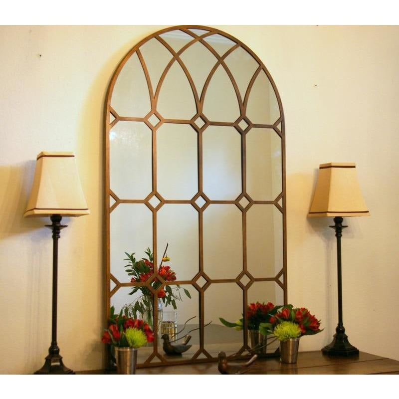 Mirrors - Cathedral Arched Window Pane Mirror