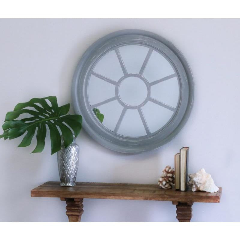 Mirrors - Nautical Wood Window Mirror -