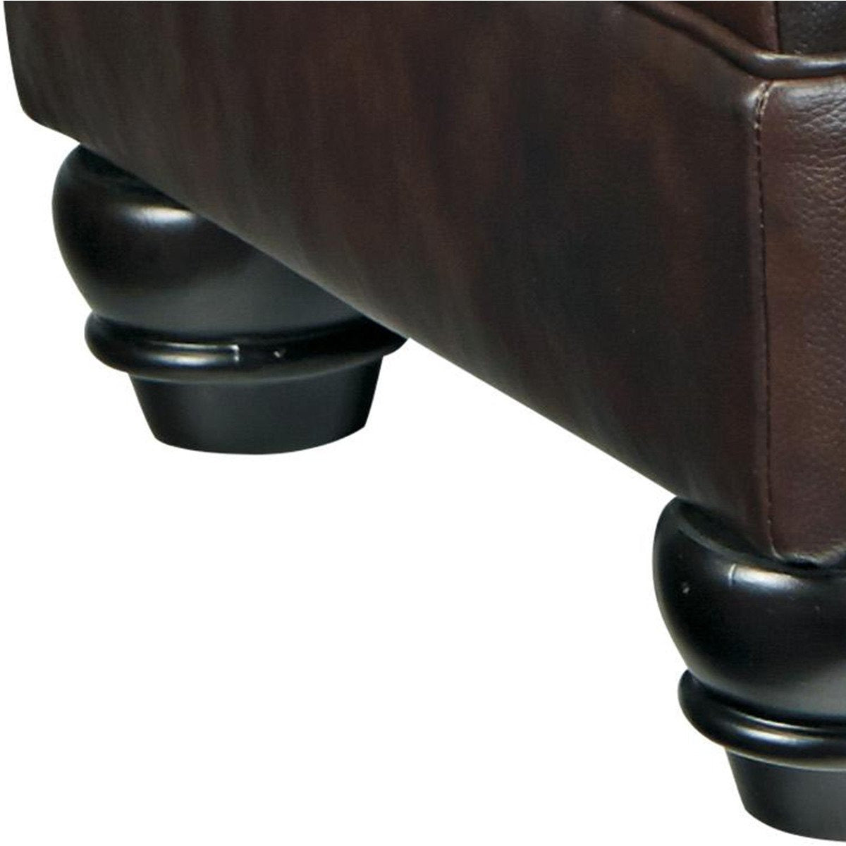 Ottomans - Contemporary Style Wooden Ottoman With Fabric Upholstery,